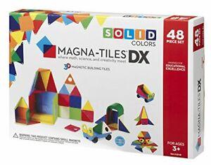Magna Tiles 02148 3-D Building Deluxe Magnetic Construction Tiles, Solid Colors