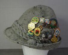 vintage - Tirolerhut Trachten Rockel Hut mit Anstecknadeln Tirol Hat Gr.57
