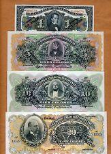 Commemorative Costa Rica Specimen Set 1;5;10;20 ND (L.1917) 1963 aUNC > Rare
