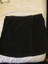 Washed Black Denim ASOS Wrap Skirt