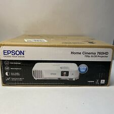 Epson Powerlite Home Cinema 760HD 720p 3LCD Projector w/ Speakers NEW Sealed Box