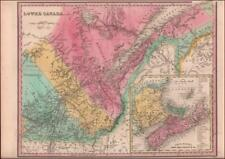 LOWER CANADA, QUEBEC, NOVA SCOTIA, NEW BRUNSWICK, PEI, Tanner Map Original 1839
