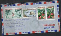 New Caledonia: c1960 airmail cover to USA with 1959 15f Air & 1960 5f CentyMS439