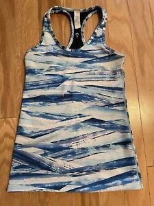 ivivva lululemon girls 12 Keep Ur Cool Racerback Tank Top Blue stripe