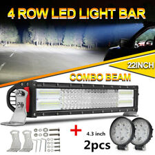 22INCH 640W LED WORK LIGHT BAR SPOT&FLOOD COMBO FOR 4X4WD OFFROAD ATV PODS LAMP
