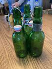 Grolsch Green Swing Top Caps With Embossed Logo-3!  Beer Bottles Re-use