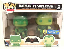 FUNKO POP! Batman Vs Superman Glow In The Dark GITD 2 Pack Walmart Exclusive