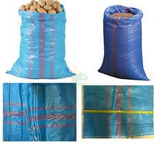 Nr 10 Sacchi sacconi per agricoltura giardinaggio polietilene sacco 70X120  blu