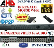 DVR 32 CANALI IBRIDO HDMI P2P FULL HD VIDEOSORVEGLIANZA NVR  AHD ANALOGICO TOP
