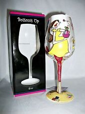 DECORATIVE HAND PAINTED 15 OZ WINE GLASS PREGNANT BABY BUMP SHOWER GIRL OR BOY