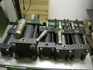 NEW LOT OF 10 HANNA HYDRAULIC CYLINDERS / PISTONS FOR AUTOMATION MACHINE SHOP