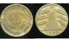 ALLEMAGNE 10  reichspfennig  1925 D   ( bis )