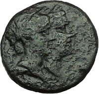 Greek city of Philadelphia 2-1st Century BC Dioscuri Cult   Ancient Coin i34346