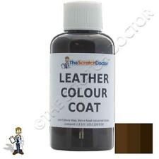 DARK BROWN Leather Colour Coat Re-Colouring Kit / Dye Stain Pigment Paint
