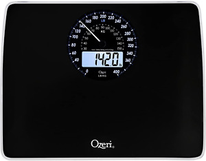 Ozeri Rev Digital Weight Scale with Electro-Mechanical Weight Dial and 50 Gram /