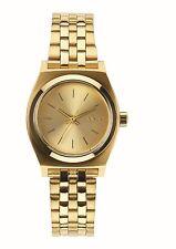 Nixon Small Time Teller All Gold Ladies Wristwatch Gold Metal Strap A399 502