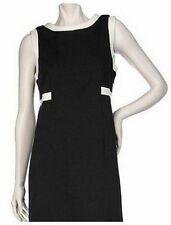 8 MEDIUM - DIALOGUE Knit Sleeveless Dress w/ Contrast Edging QVC A97272 S M