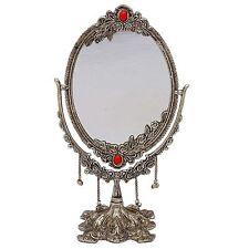Dekorative doppelseitiger handgefertigte Spiegel White Metal Frame Home Tisch