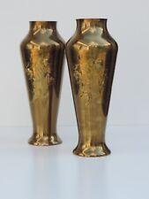 2 GROßE JUGENDSTIL WMF VASEN VASE MESSING MOHN MOTIV ART NOUVEAU UM CA. 1900