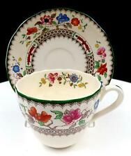"""SPODE ENGLAND 2/9253 IMPERIAL WARE CHINESE ROSE 3"""" FLAT CUP & SAUCER 1913-2006"""