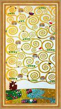 Lebensbaum Detailausschnitt Stoclet Fries Symbolismus Bütten Klimt A3 026