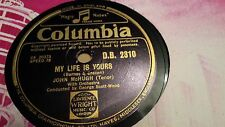 JOHN MCHUGH MY LIFE IS YOURS AND MY LOVE IS ONLY FOR YOU COLUMBIA DB2310