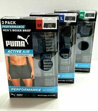 Puma Dark Blue /& Pink Lightweight Stretch Boxer Brief Men/'s NWT