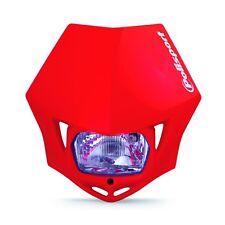Polisport MMX Road Legal Universal Headlight Enduro CRF CR 125 250 450 RED Honda