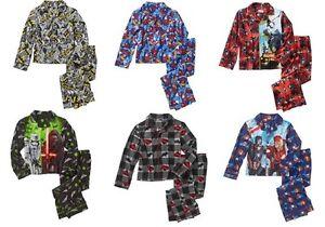 Marvel Captain America Spider-man Batman Star War 2 Pc Longsleeve Pajamas  NWT