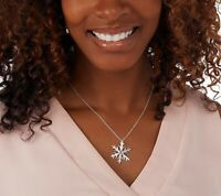 JMH Jewellery Sterling Silver Snowflake Necklace QVC $75