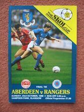 1988-1989 SCOTTISH LEAGUE (SKOL) CUP FINAL: ABERDEEN v RANGERS