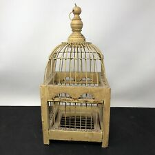 Vintage Victorian Dome Top Decorative Wood Bird Cage 12� Tall