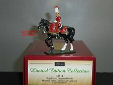BRITAINS 48012 ROYAL SCOTS DRAGOON GUARDS KETTLE DRUMMER MOUNTED TOY SOLDIER