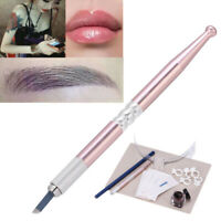 Eyebrow Tattoo Makeup Kit Set Microblading Needle Pen Ink Permanent Tool