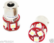 2x 6v VOLT AUTO LAMPADA LED BIANCO CON 8smd per auto d'epoca Socket ba15s 5w 10w = & gt1.4w