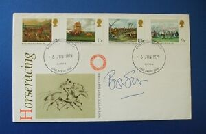 1979 HORSERACING FIRST DAY COVER SIGNED BY BROUGH SCOTT