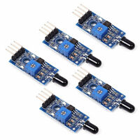 5X 4 Pin IR Flame Detection Sensor Module Fire Detector Module for Arduino DIY