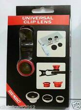 Universal Fish-Eye Wide Angle Marco Camera Clip-On Lens For Tab Phone PC Laptop