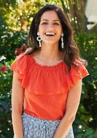 MATILDA JANE Brilliant Daydream Everything I See Women's Orange Top Size XS