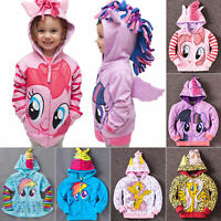 Kids Girls Hoodies My Little Pony Wing Sweater Sweatshirt Coat Jacket Clothes