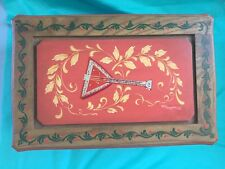 "Large Anri Vtg Reuge 50 Note Music Box Lara's Theme Hand Painted 11""x7 1/4""x4"""