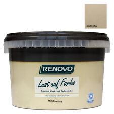 (11,95€/L) Renovo Wandfarbe -matt- Milchkaffee 1 L
