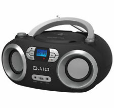 OUTMARK BAIO TRAGBARER CD-PLAYER CD-RADIO MIT BLUETOOTH USB BLACK KINDER