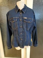 Oilily Womens Denim Embroidered Shirt Jacket Size 40 US10