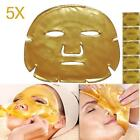 5pc Gold Bio Collagen Crystal Facial Mask Anti-aging Hydrating Face Care Girl KB