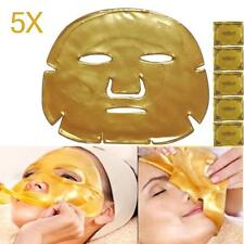 5pc Gold Bio Collagen Crystal Facial Mask Anti-aging Hydrating Face Care Girl JS