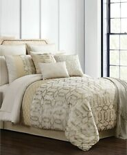 Hallmart Collectibles 13-piece King Comforter Set Hedron Ivory/Gold D03035