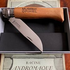 RARE Opinel N°08 manche frêne lame carbone polie, Musée Opinel / NEUF
