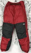 New Helly Hansen Nimbus Goose Down Pant Ski Snowboard Red Gray Mens Sleeping Bag
