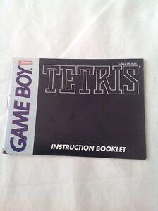 Game Boy Tetris Instruction Booklet